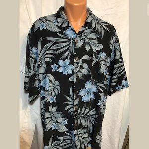 ca83e62d4036d Bermuda Bay Mens Sz XL 100% Silk Hawaiian Shirt
